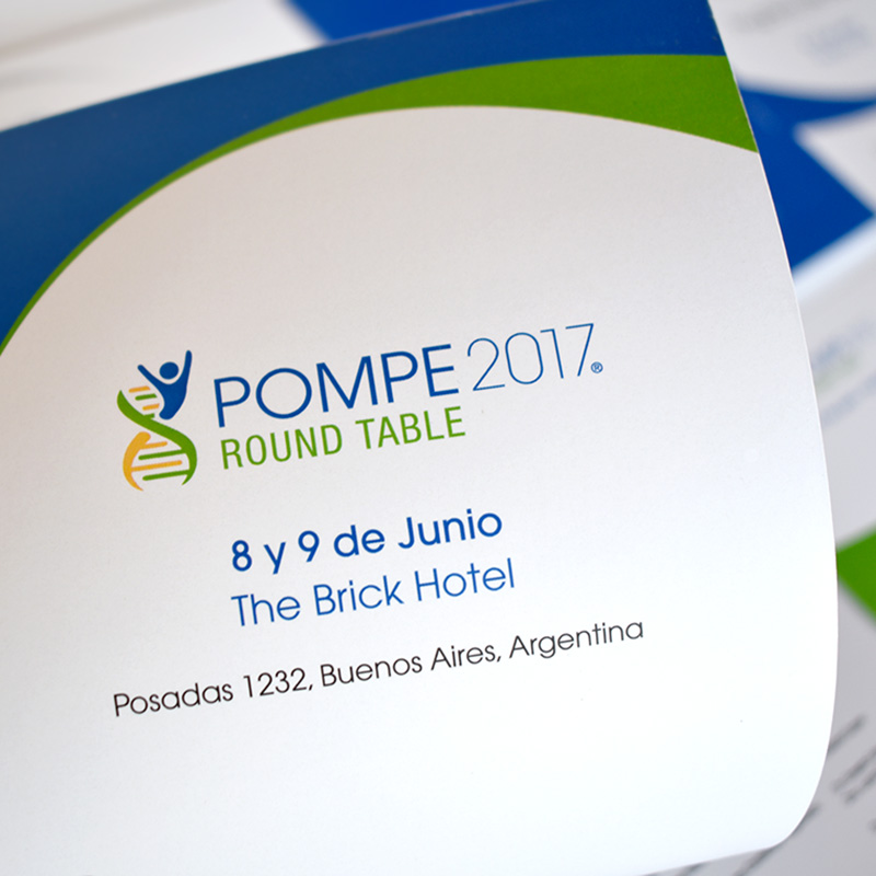 Material promocional Pompe Round table