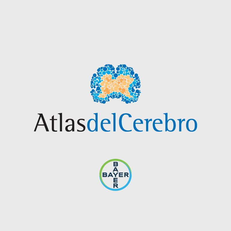 Isologotipo Atlas del Cerebro. Bayer.