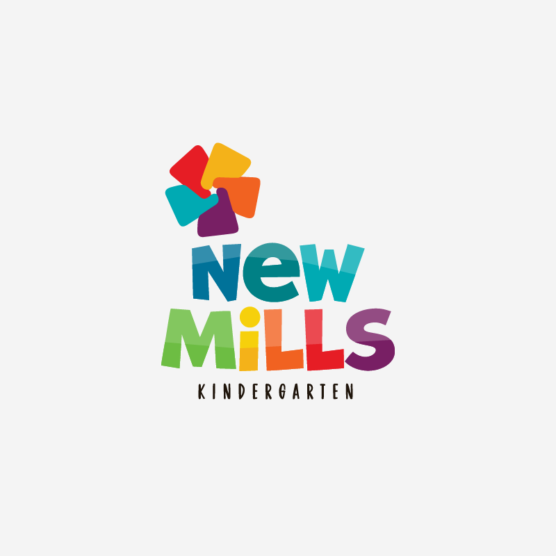 Isologotipo New Mills Kindergarten.